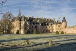 Château de La Palice en hiver - Allier © L. Olivier