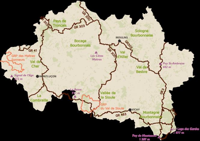 Randonnée Allier : GR et GRP dans l'Allier © CDT Allier