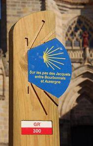 Panneau Randonnée Allier GR 300 : chemin de Saint Jacques © CDRP 03